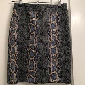 Snakeskin print skirt-XS